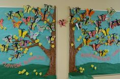 These butterflies would look so good on my classroom tree