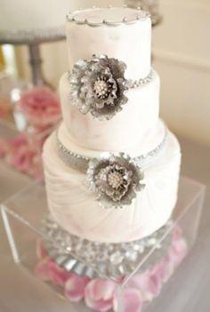 Gorgeous glitter Wedding Cake!