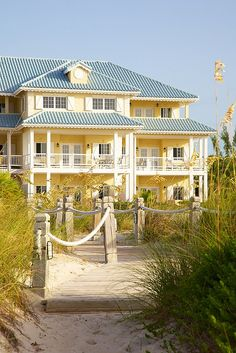 yellow beach house