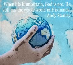Guest Post (VBS) - Peace In The Storm by Andy Stanley // And we know that in all things God works for the good of those who love him, who have been called according to his purpose.   Romans 8:28 (NIV)