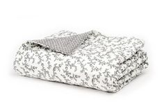gray calico quilt from Plover Organic