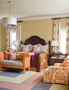 beautiful orange bedroom