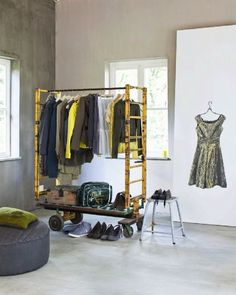 clothing rack with ladder ends