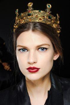 FALL 2013 READY-TO-WEAR  Dolce & Gabbana paris fashion, fashion weeks, lip, crown, dolc, winter fashion, fall 13, latest trends, pat mcgrath