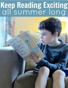 Kick off summer reading at your house with simple, special events, and use the same ideas throughout the summer to keep the reading momentum going until it's time to go back to school.