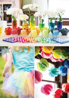 Playful Rainbow Butterfly Princess Party