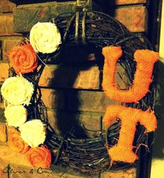 UT Vols Football wreath Tennessee orange and by melissamooneyham1, $30.00