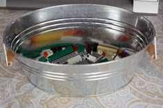 Build buckets.  Keep lego project messes contained while in construction so your little brother doesn't swipe your pieces.