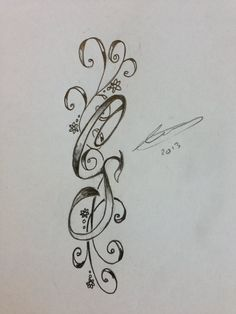 Initial tattoo idea--I would use just one S for both names. Maybe add small birth flowers?