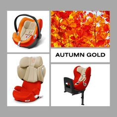 Our new CYBEX child car seat collection in autumn gold.