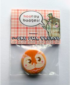 Owl badge.