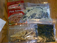 """DIY backpacking dinners - """"sushi"""""""