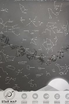 Glow in the dark star constellation map #urbanoutfitters