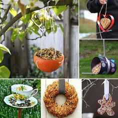 10 Up-Cycled Bird Feeders for Winter and Spring | MollyMoo for @Spoonful