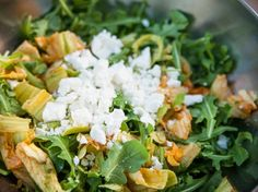 Arugula and Squash Blossom Salad