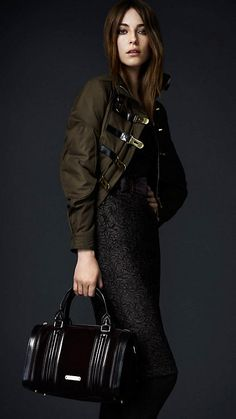 Burberry - Cotton Gabardine Bomber Jacket and Slim Fit Lace Dress