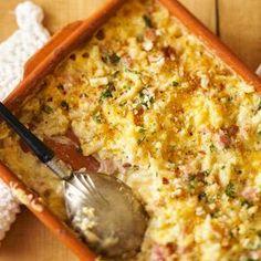 Creamy Macaroni-and-Cheese Ham Bake