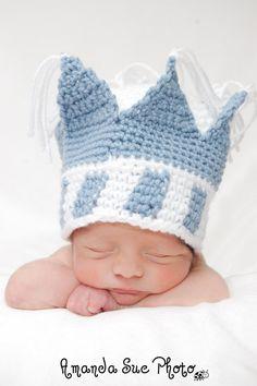 Pattern for a Crochet Little Blue Prince Hat Photo Prop by jspirik, $4.00