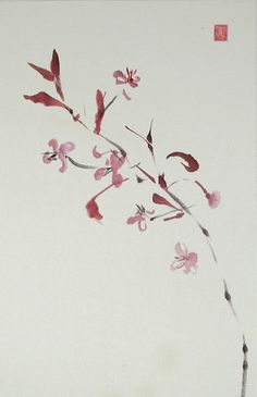 Sumi-e in pink