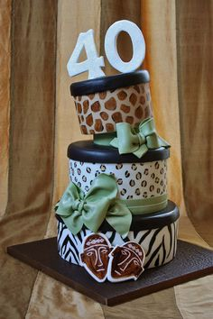 African Safari Themed Cake