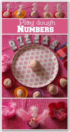 Play dough numbers. A fun learning activity for counting and number recognition.