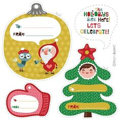 orange you lucky!: holiday gift-tags...