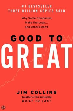 """Based on an extensive five-year study conducted by Collins and a research team he affectionately refers to as """"the Chimps,"""" Good to Great defines and analyzes the practices that allowed 11 companies to make the rare transition from solid to outstanding performance. #goodread #entrepneurship #success - must read business book"""