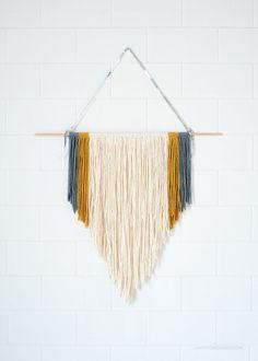 DIY Easy Macrame Wall Hanging via Love From Ginger | lovefromginger.com