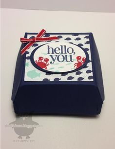 Stampin' Up! Hello, you! Sea Street  Hamburger Box