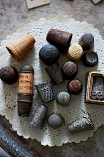 ❤ vintage thimbles