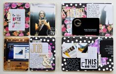 this & that, right now, hello life 6x8 Project Life Layouts by Kasia Tomaszewska