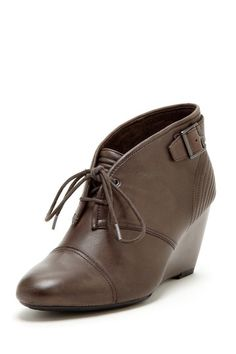 Lace-Up Wedge Booties / rockport