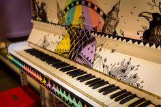 Generator Hostels London  #hostel #London #Holiday #Traveling #design #bar #piano