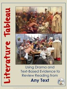 Use the literature tableau vivant to review reading for any text! Great for your kinesthetic learners and theatrical students, it's drama without the action and dialogue. Additionally, this lesson prepares your students to meet the expectations of Common Core by requiring students to provide text-based evidence in short literary analysis essays.