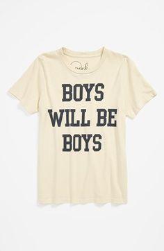 Peek 'Boys Will Be Boys' T-Shirt (Toddler Boys, Little Boys