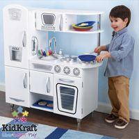 KidKraft White Vintage Retro Play Kitchen 53208