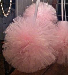 "12"" pink pom poms - prettymini.etsy.com"