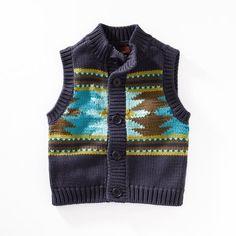 Tea Collection Baby-Boys Infant Alegre Aztec Sweater Vest