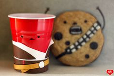 Han Solo Cup & Chewbacca the Wookiee cookie come to life