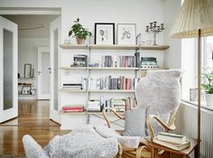 simple shelves.