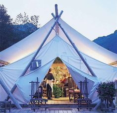 Love this glamp tent.
