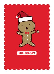 I love this Gingerbread Oh Snap Christmas Card from http://www.pinterest.com/cardstore/ #TopOfTheMantel #MC #Sponsored