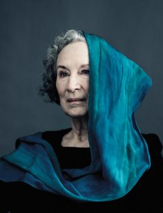 """Margaret Atwood, as photographed by Mark Zibert, """"Margaret Atwood on 'Positron', Writing Habits, and Her Pre-Feminism Feminism,"""" Bullett Magazine, Spring 2013 Issue"""