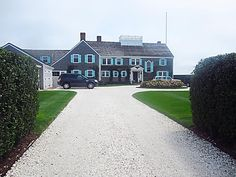 Tommy Hilfiger's Nantucket home.  Gravel driveway goodness. via COCOCOZY: CRUSHING ON GRAVEL