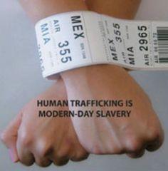 Human trafficking happens to women and men.