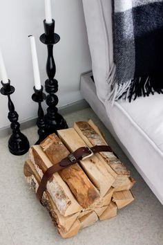 <3 Wood + leather belt
