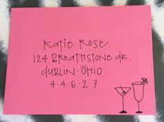 Bachelorette Party Custom Addressed Calligraphy Envelope