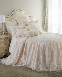 Villa Rosa & Queen Anne Lace Bedding by Sweet Dreams at Neiman Marcus.