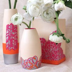 Create these textured clay vases for any occasion!
