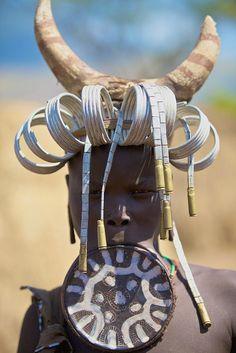 Africa. Mursi tribe, Ethiopia.